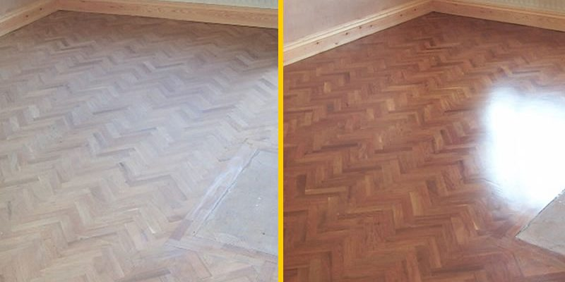before and after domestic floor sanding